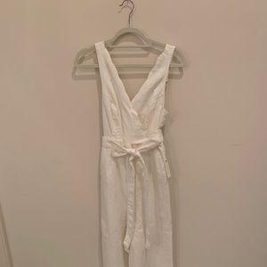White Chino Jumpsuit